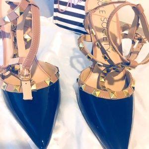 Women strappy High Heels Black